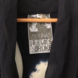 Young Fabulous & Broke Dresses - YBF Blue White Tie Dye Ariana Cowl Tunic Dress